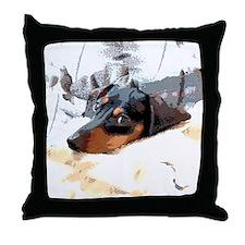 Naptime Alone Dachshund Throw Pillow