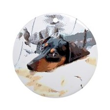 Naptime Alone Dachshund Ornament (Round)