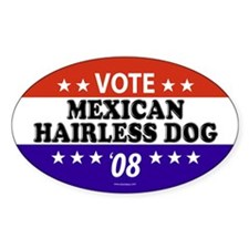 MEXICAN HAIRLESS DOG Oval Decal