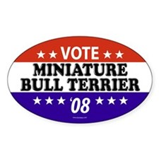 MINIATURE BULL TERRIER Oval Decal
