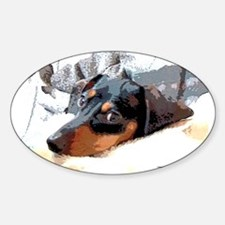 Naptime Alone Dachshund Oval Decal
