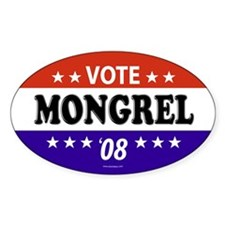 MONGREL Oval Decal