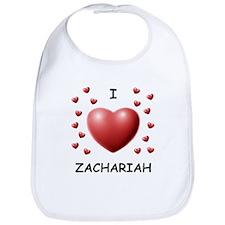 I Love Zachariah - Bib