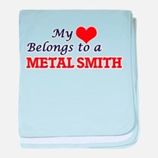 My heart belongs to a Metal Smith baby blanket