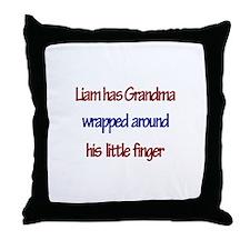 Liam - Grandma Wrapped Around Throw Pillow