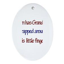 Liam - Grandma Wrapped Around Oval Ornament