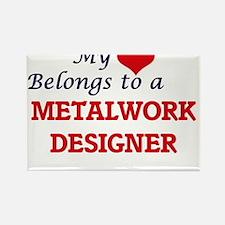 My heart belongs to a Metalwork Designer Magnets