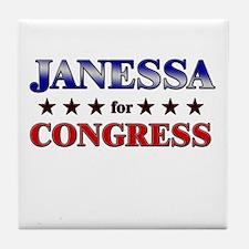 JANESSA for congress Tile Coaster