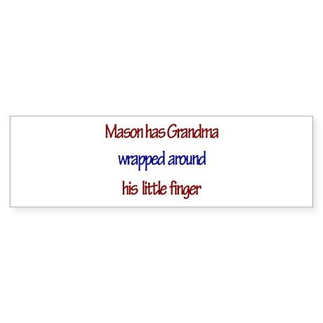 Mason - Grandma Wrapped Aroun Bumper Sticker