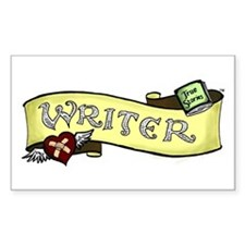 """""""Writer"""" Rectangle Decal"""
