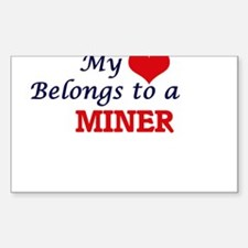 My heart belongs to a Miner Decal