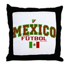 Mexico Futbol/Soccer Throw Pillow
