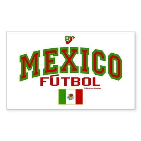 Mexico Futbol/Soccer Sticker (Rectangle)