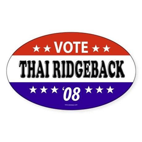 THAI RIDGEBACK Oval Sticker