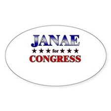 JANAE for congress Oval Decal