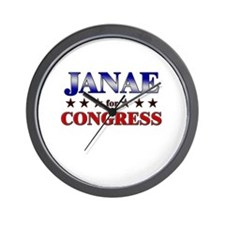 JANAE for congress Wall Clock