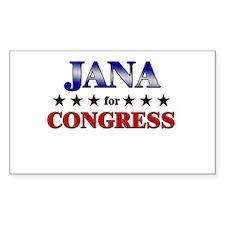 JANA for congress Rectangle Decal