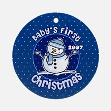 2007 Baby's First Christmas Ornament (Round)