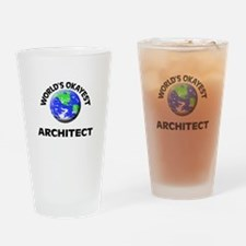 World's Okayest Architect Drinking Glass