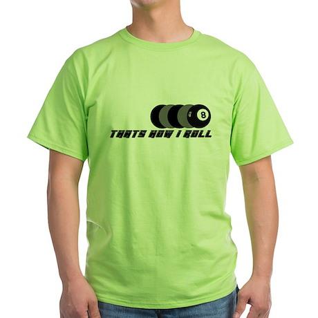 POOL SHIRTS POOL SHARK T-SHIR Green T-Shirt