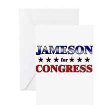 JAMESON for congress Greeting Card