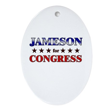 JAMESON for congress Oval Ornament