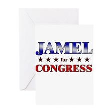 JAMEL for congress Greeting Card