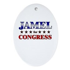 JAMEL for congress Oval Ornament