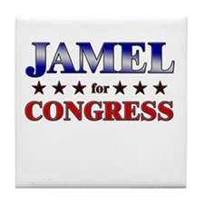 JAMEL for congress Tile Coaster