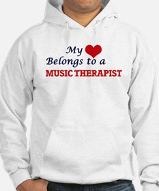 My heart belongs to a Music Ther Hoodie