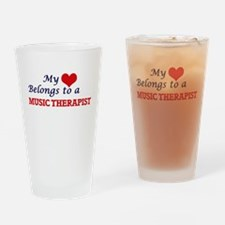 My heart belongs to a Music Therapi Drinking Glass
