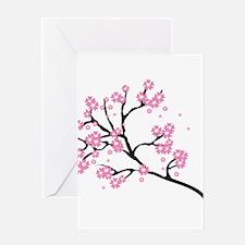 Cherry Blossom Asia Greeting Cards