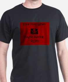 Time Flies When Youre having Rum T-Shirt