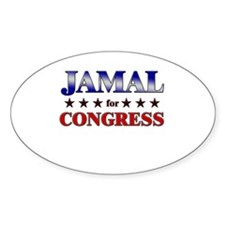 JAMAL for congress Oval Decal