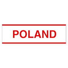 Poland Bumper Bumper Sticker