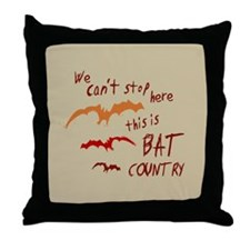 Bat Country Throw Pillow
