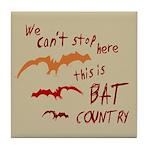 Bat Country Tile Coaster
