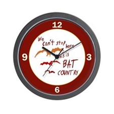 Bat Country Wall Clock