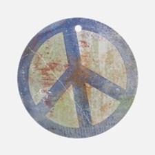 Urban Peace Sign Ornament (Round)
