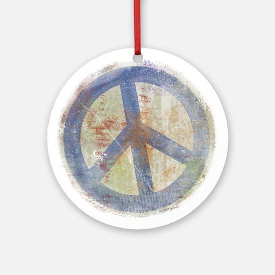 Urban Peace Sign Ornament (Round)