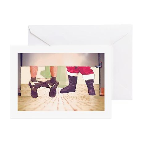 Greeting Cards (10)--Santa Late