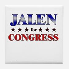 JALEN for congress Tile Coaster