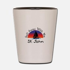 Sail Away with me St. John Shot Glass