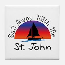Sail Away with me St. John Tile Coaster