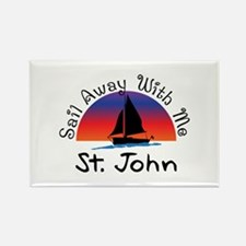 Sail Away with me St. John Magnets