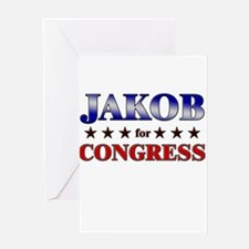 JAKOB for congress Greeting Card
