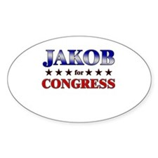 JAKOB for congress Oval Decal