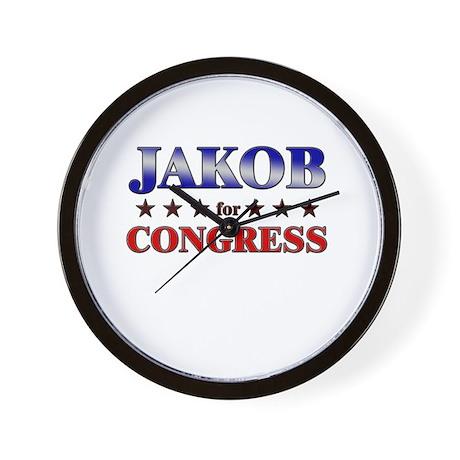 JAKOB for congress Wall Clock