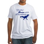 Gettin' Down With Dinosaurs Fitted T-Shirt