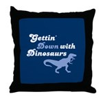 Gettin' Down With Dinosaurs Throw Pillow